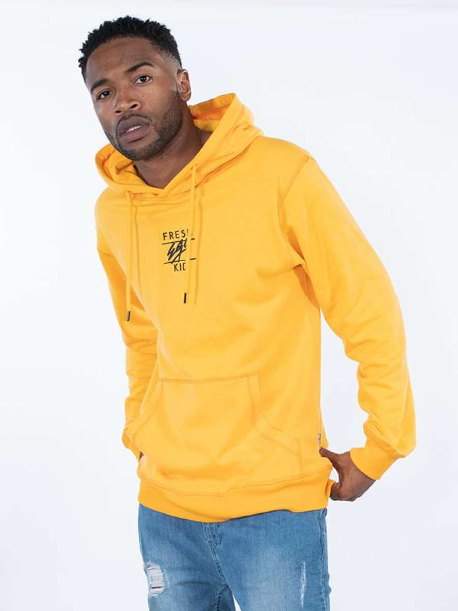 Fresh Ego Kid Central Logo Hoodie - Yellow