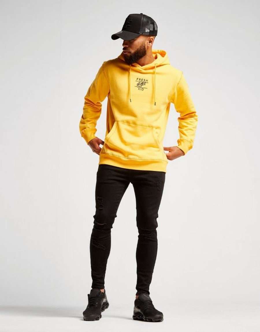 Fresh Ego Kid Central Logo Hoodie - Yellow - 2