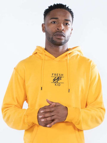 Fresh Ego Kid Central Logo Hoodie - Yellow - 1