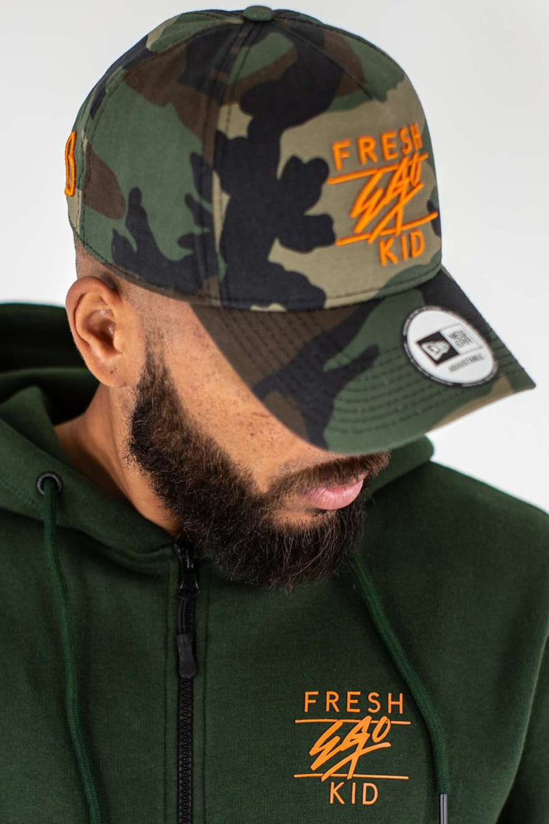 Fresh Ego Kid Cotton Twill Polo Cap - Camo