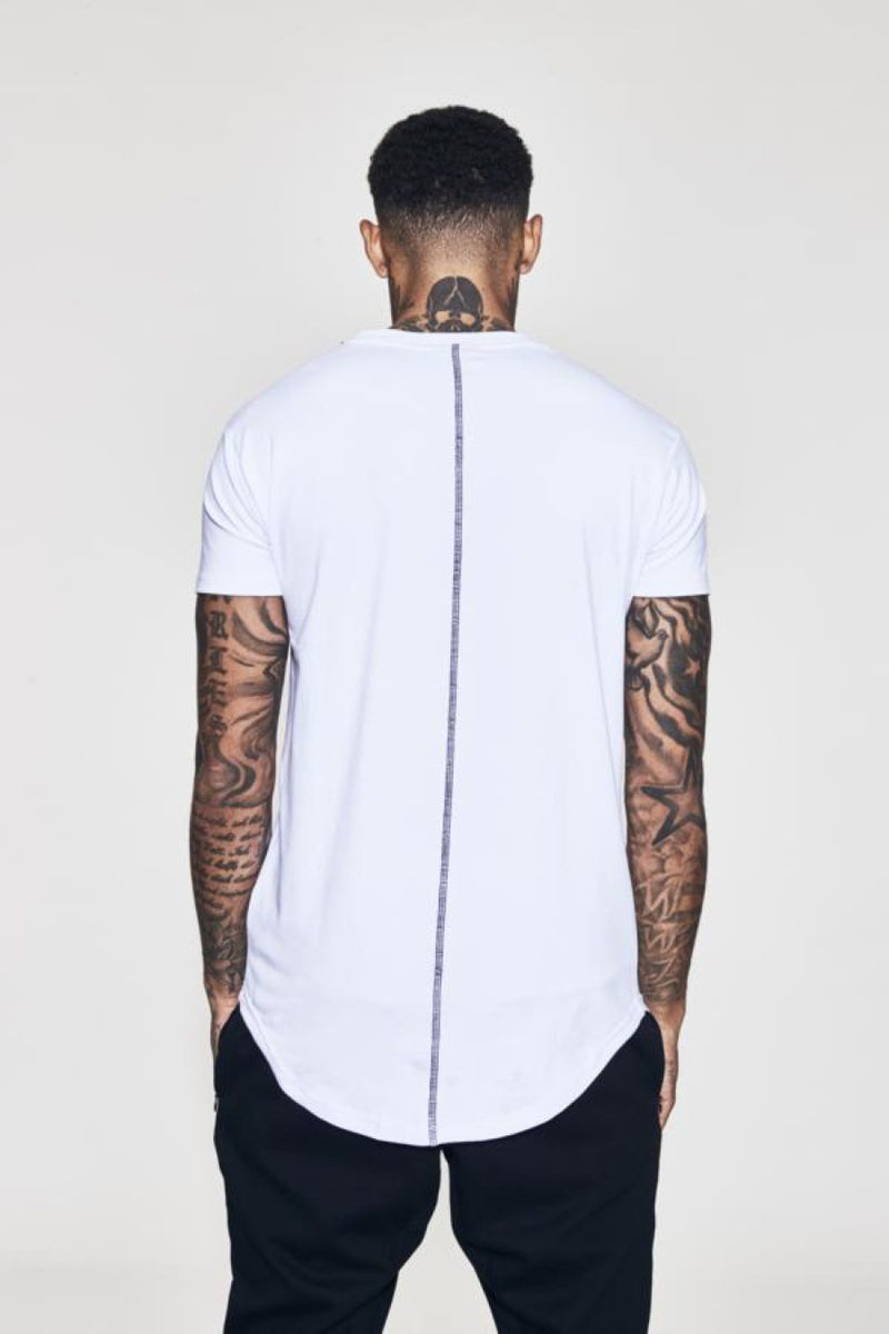 Fresh Ego Kid Curved Hem T-Shirt - White - 2