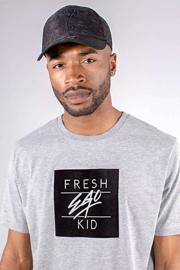 Fresh Ego Kid Ego Box Logo T-Shirt - Grey - 1