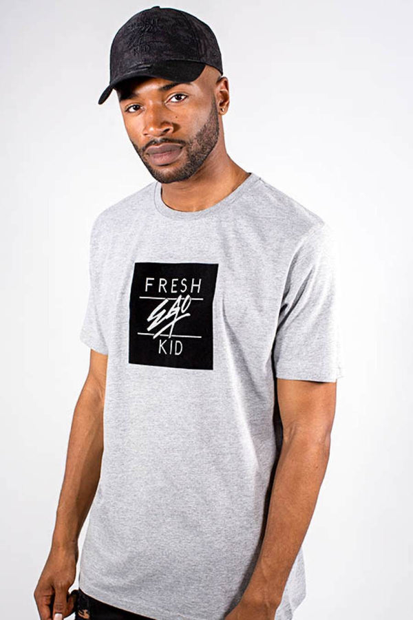 Fresh Ego Kid Ego Box Logo T-Shirt - Grey