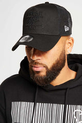 Fresh Ego Kid Mesh Trucker Cap - Black/Black
