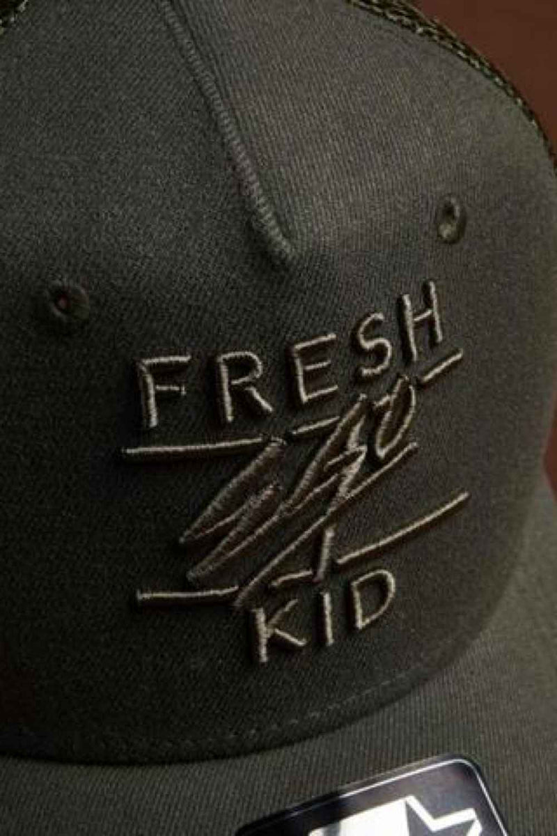 Fresh Ego Kid Mesh Trucker Cap - Khaki - 1