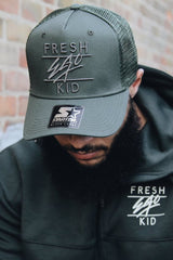 Fresh Ego Kid Mesh Trucker Cap - Khaki - 3