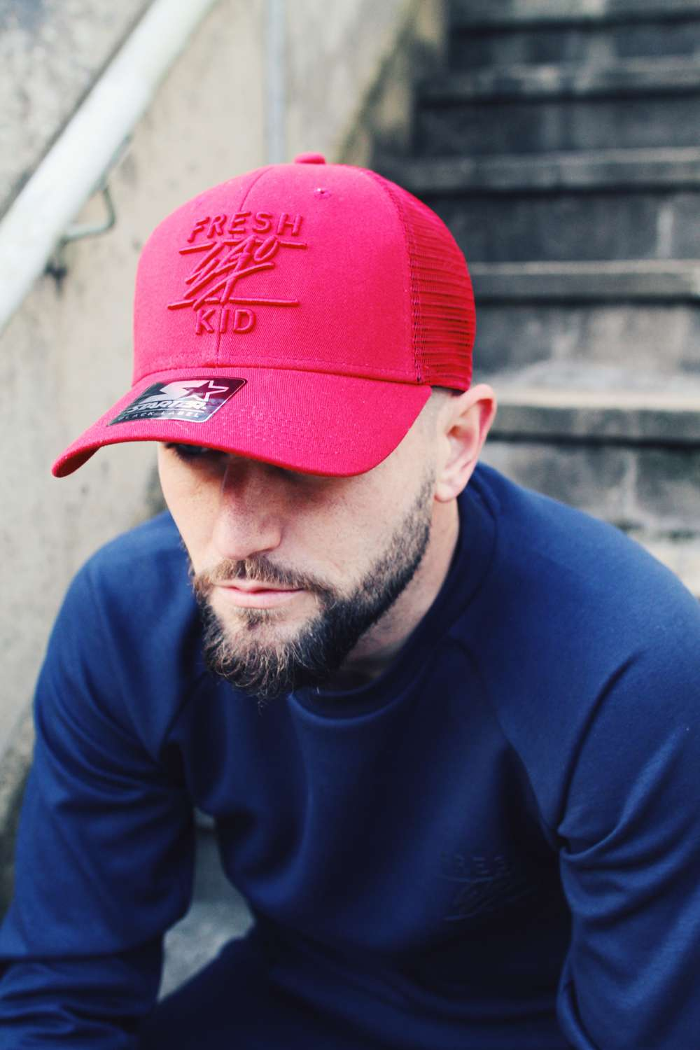 Fresh Ego Kid Mesh Trucker Cap - Red - 1