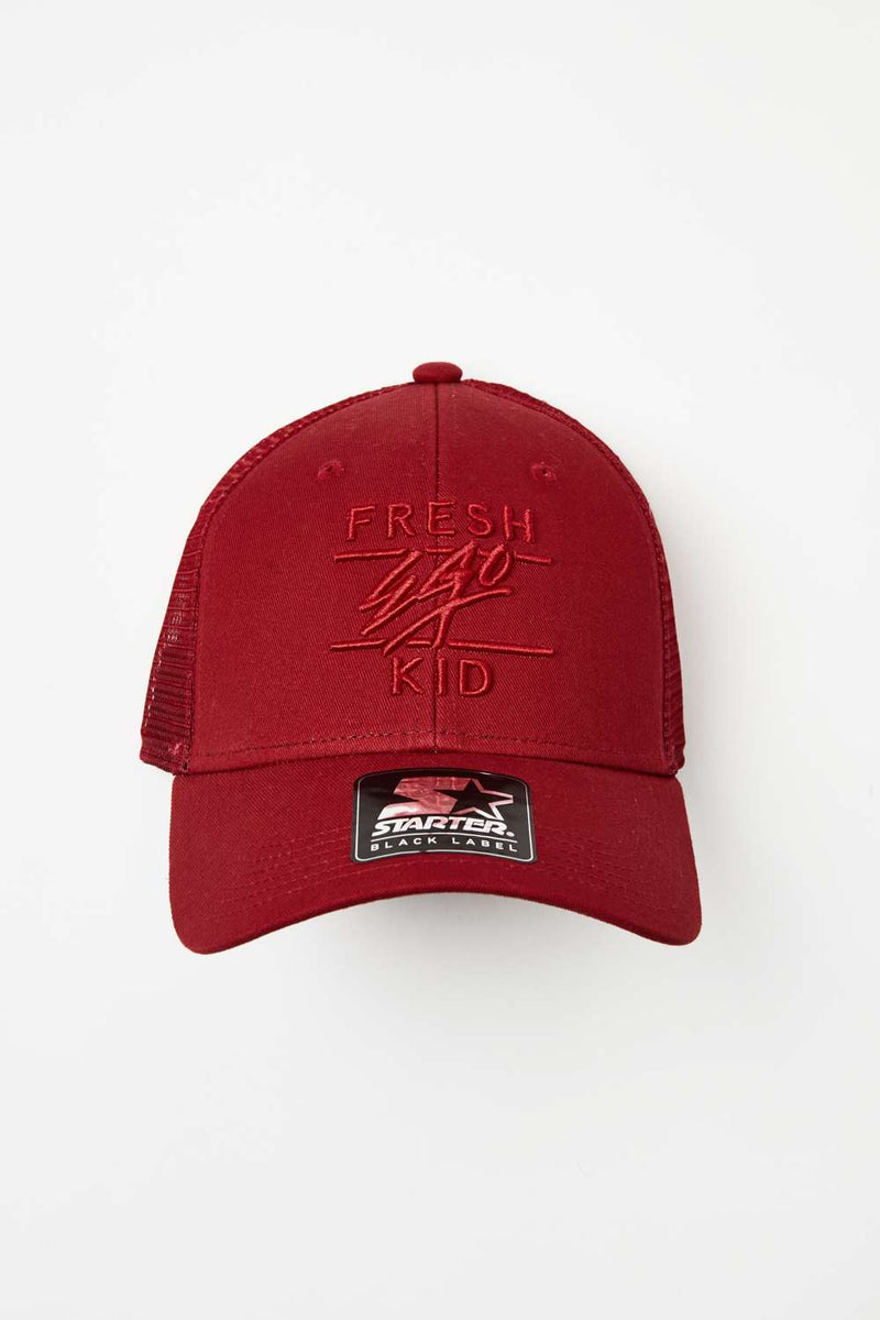 Fresh Ego Kid Mesh Trucker Cap - Red