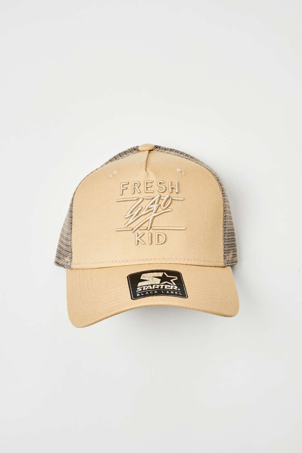 Fresh Ego Kid Mesh Trucker Cap - Sand