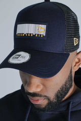 Fresh Ego Kid New Era Barcode Logo Mesh Trucker Cap - Navy  - 1