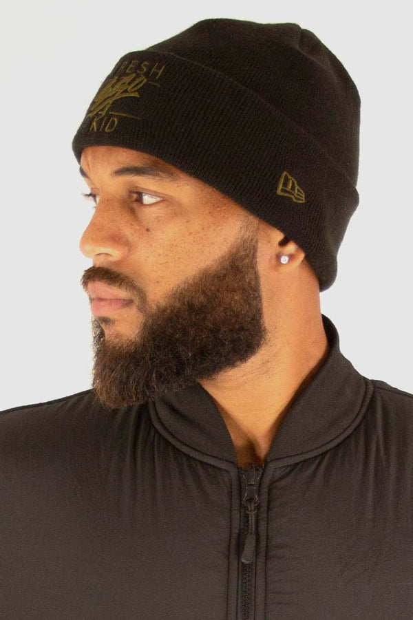 Fresh Ego Kid New Era Beanie Hat - Black - 2