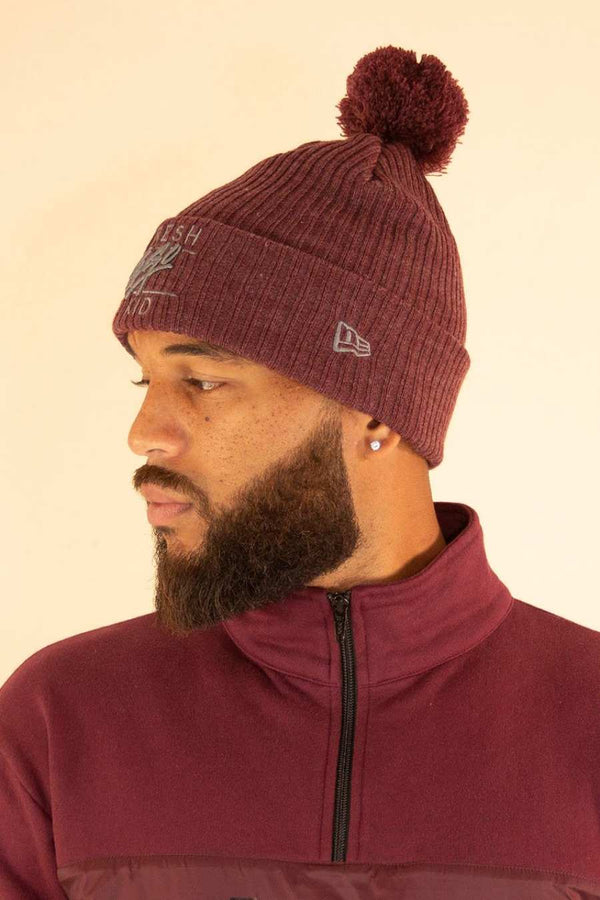 Fresh Ego Kid New Era Bobble Hat - Maroon - 1
