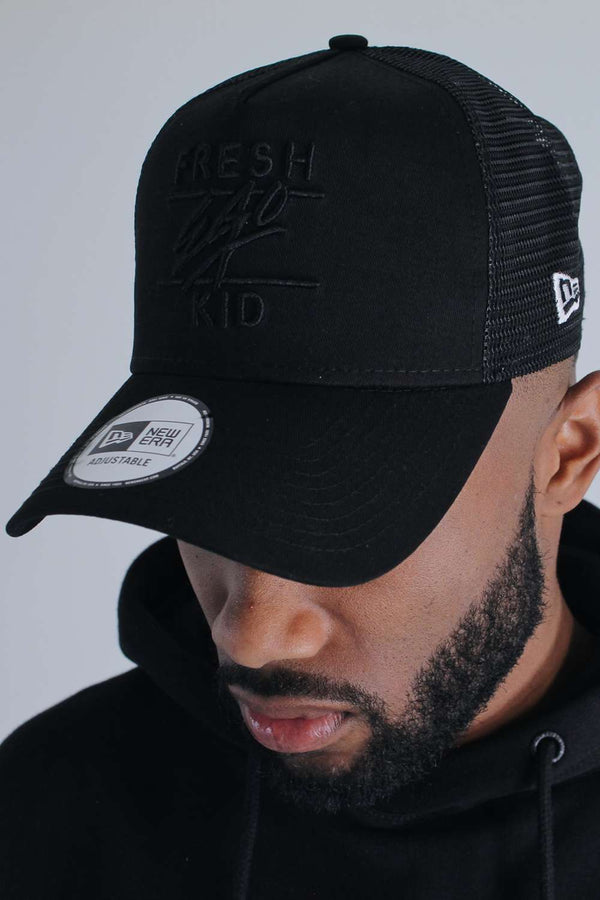Fresh Ego Kid New Era Mesh Trucker Cap - Black - 1