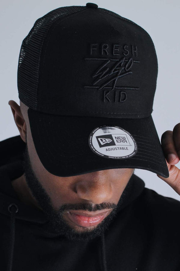 Fresh Ego Kid New Era Mesh Trucker Cap - Black
