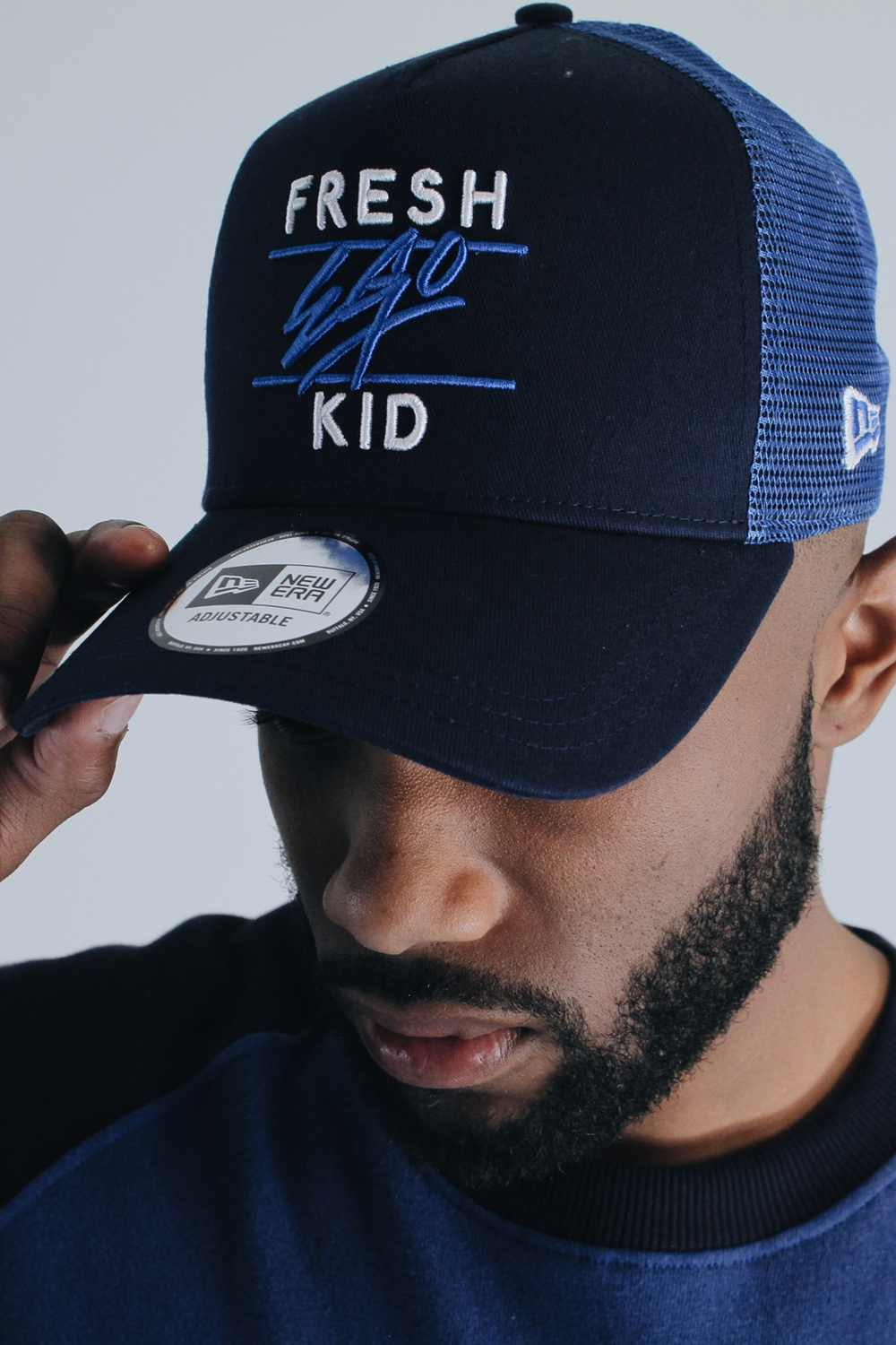 Fresh Ego Kid New Era Mesh Trucker Cap - Navy - 1