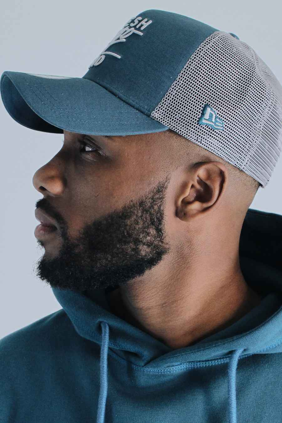 Fresh Ego Kid New Era Mesh Trucker Cap - Teal/Grey - 2