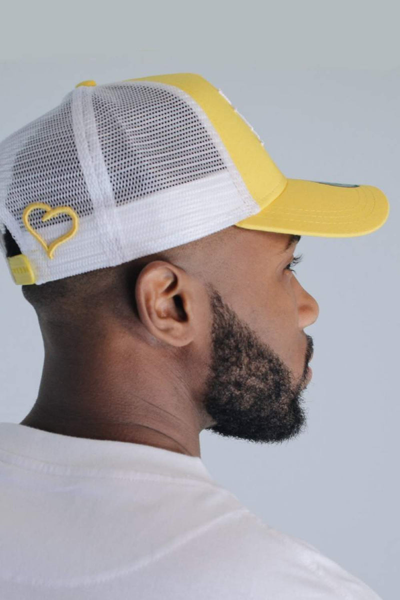 Fresh Ego Kid New Era Mesh Trucker Cap - Yellow/White - 3