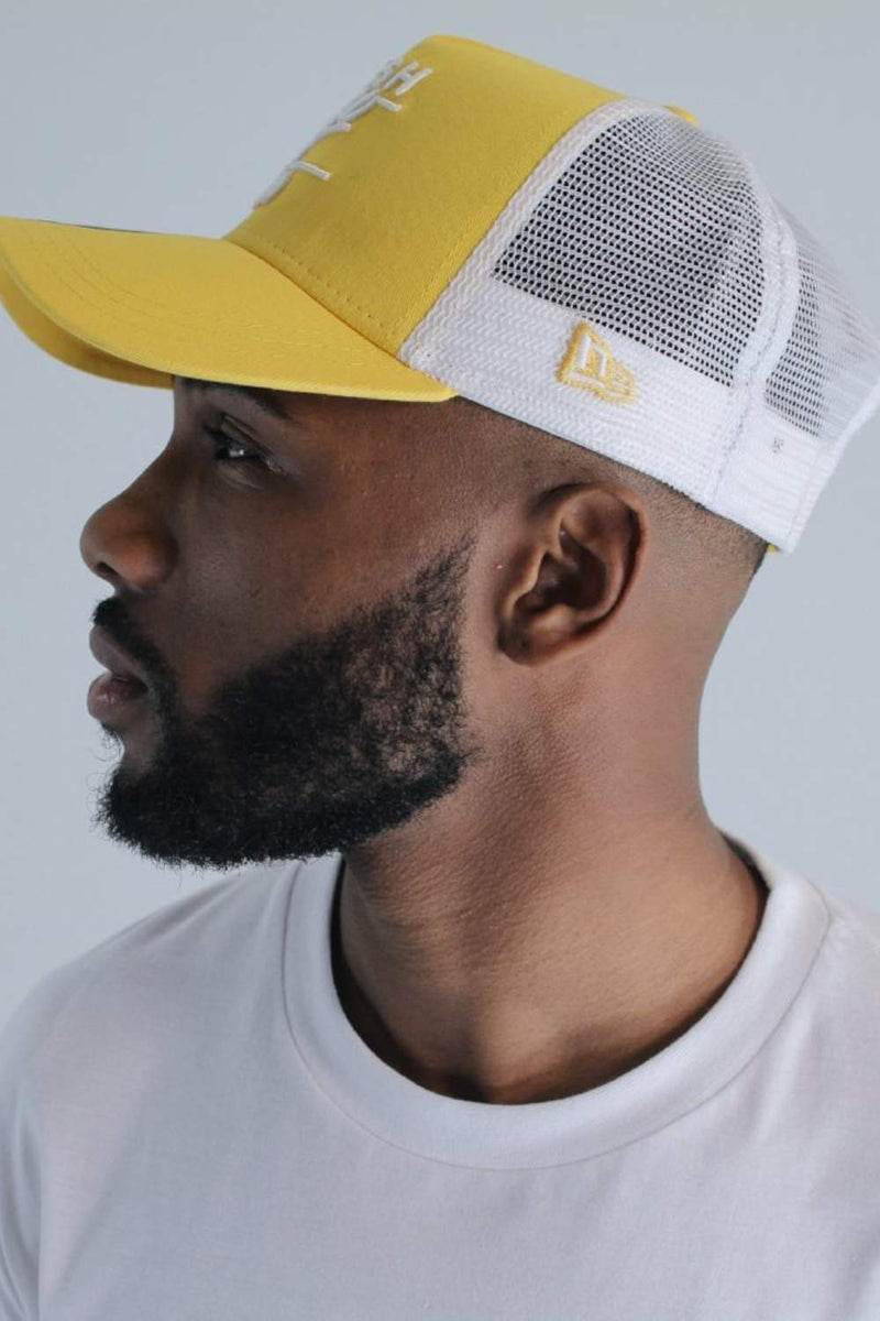 Fresh Ego Kid New Era Mesh Trucker Cap - Yellow/White - 2
