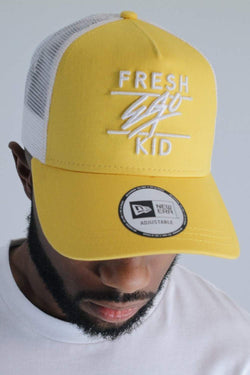 Fresh Ego Kid New Era Mesh Trucker Cap - Yellow/White - 1