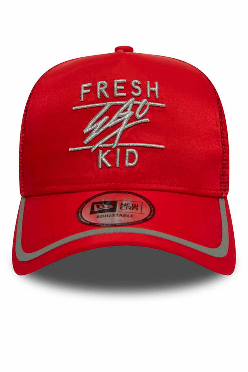 Fresh Ego Kid New Era Reflective Trucker Cap - Red/Silver