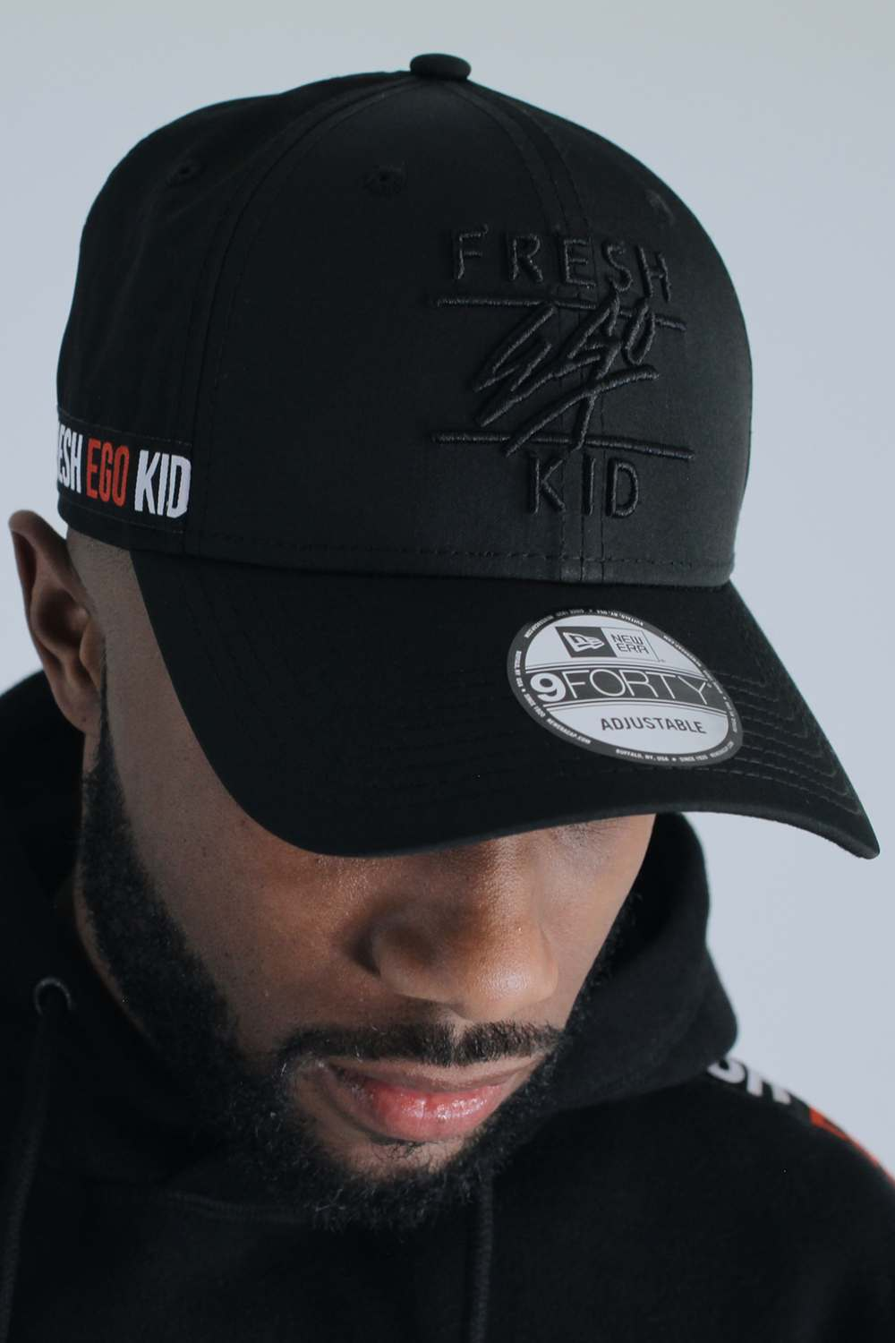 Fresh Ego Kid New Era Taped 9FORTY Polo Cap - Black