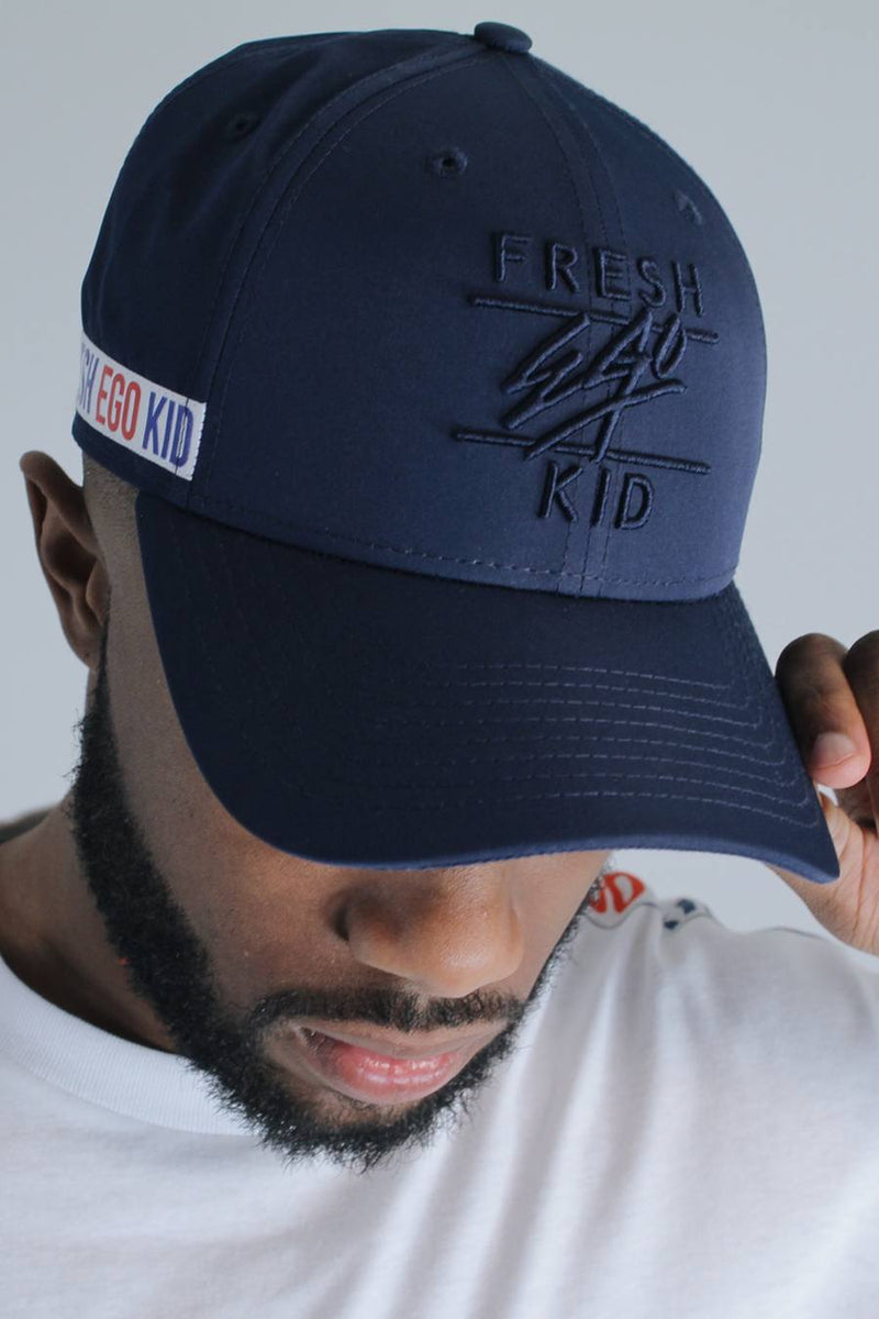 Fresh Ego Kid New Era Taped 9FORTY Polo Cap - Navy