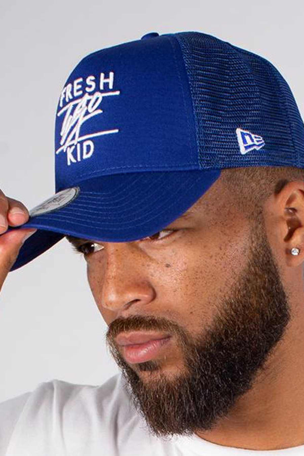 Fresh Ego Kid Trucker Cap - Blue/White