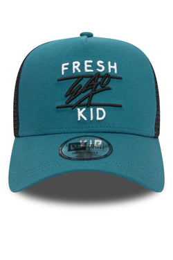 Fresh Ego Kid Trucker New Era Cap - Teal/Black/White