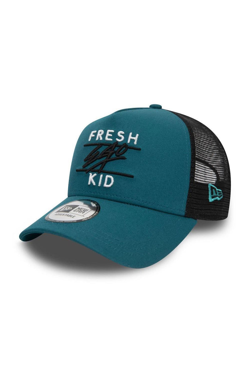 Fresh Ego Kid Trucker New Era Cap - Teal/Black/White - 1