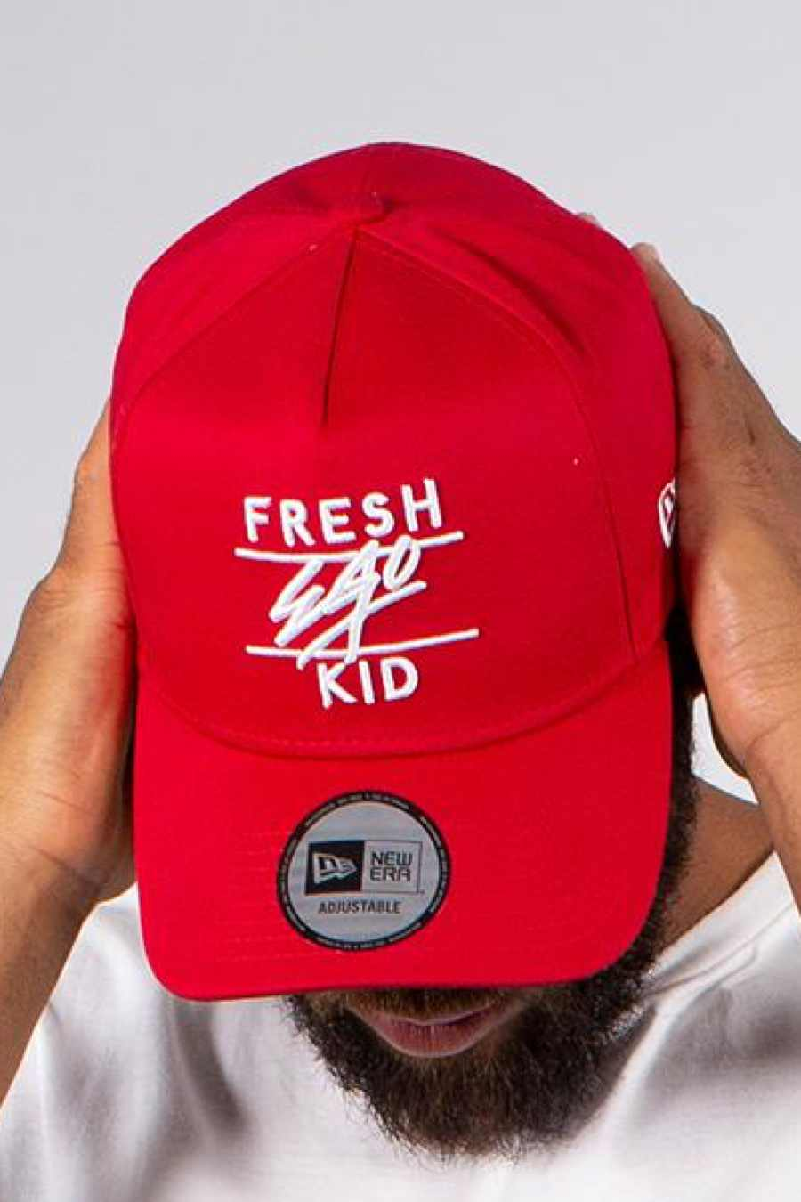 Fresh Ego Kid Trucker Polo Cap - Red/White