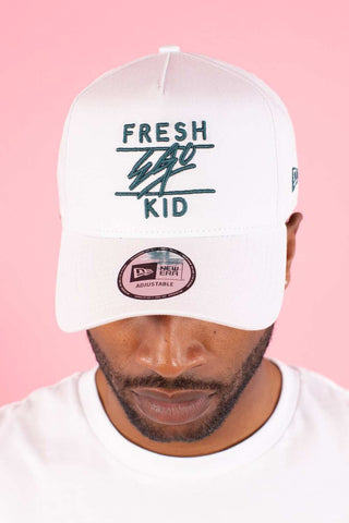 Fresh Ego Kid Trucker Polo Cap - White/Green