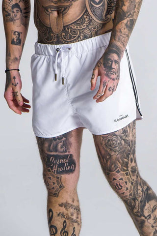 Gianni Kavanagh Tape Swim Shorts - White
