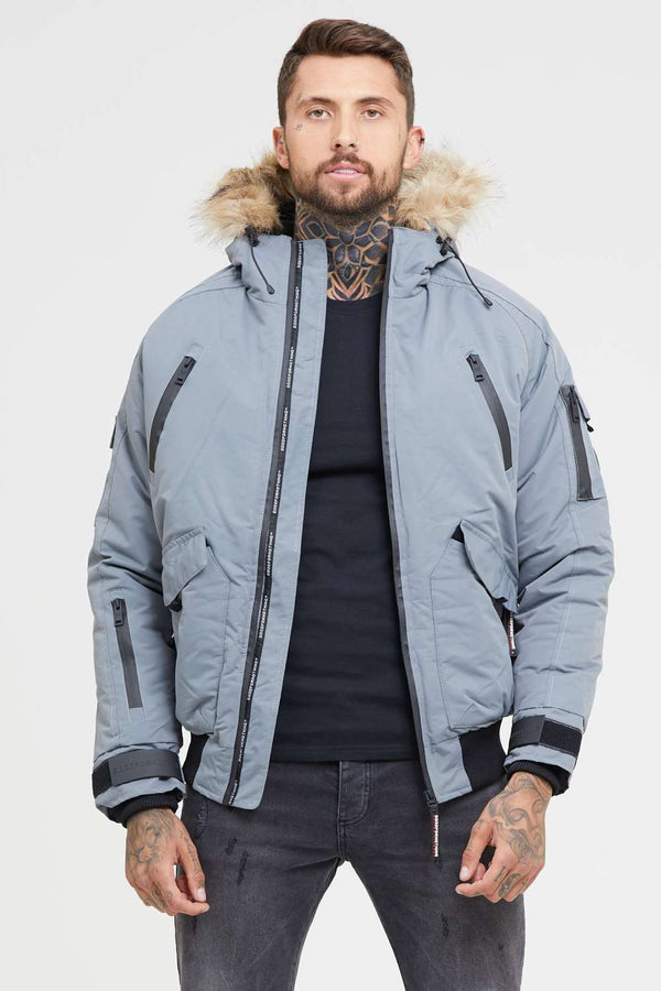 Good For Nothing Arctic Bomber Parka - Grey