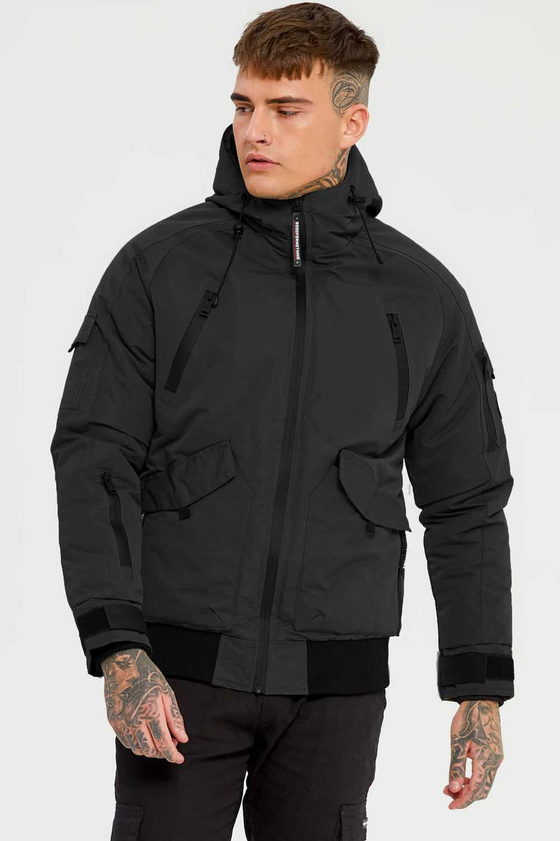Good For Nothing Artic Bomber Parka - Black - 3