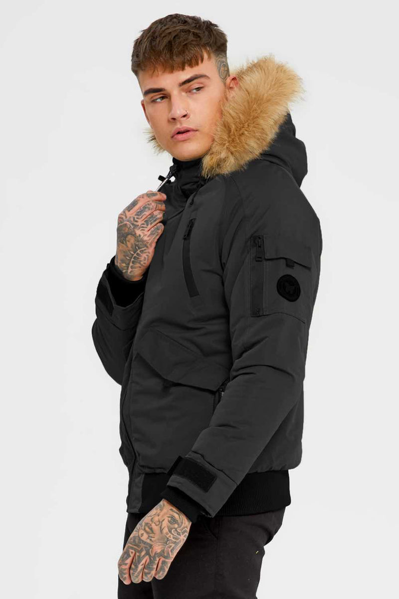 Good For Nothing Artic Bomber Parka - Black - 1