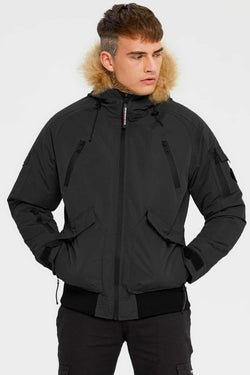 Good For Nothing Artic Bomber Parka - Black