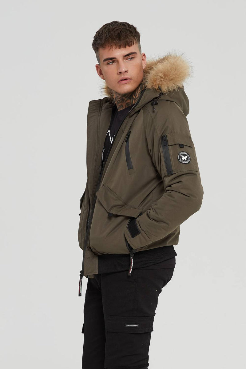 Good For Nothing Artic Bomber Parka - Olive - 1