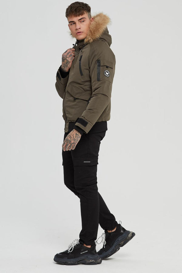 Good For Nothing Artic Bomber Parka - Olive - 2