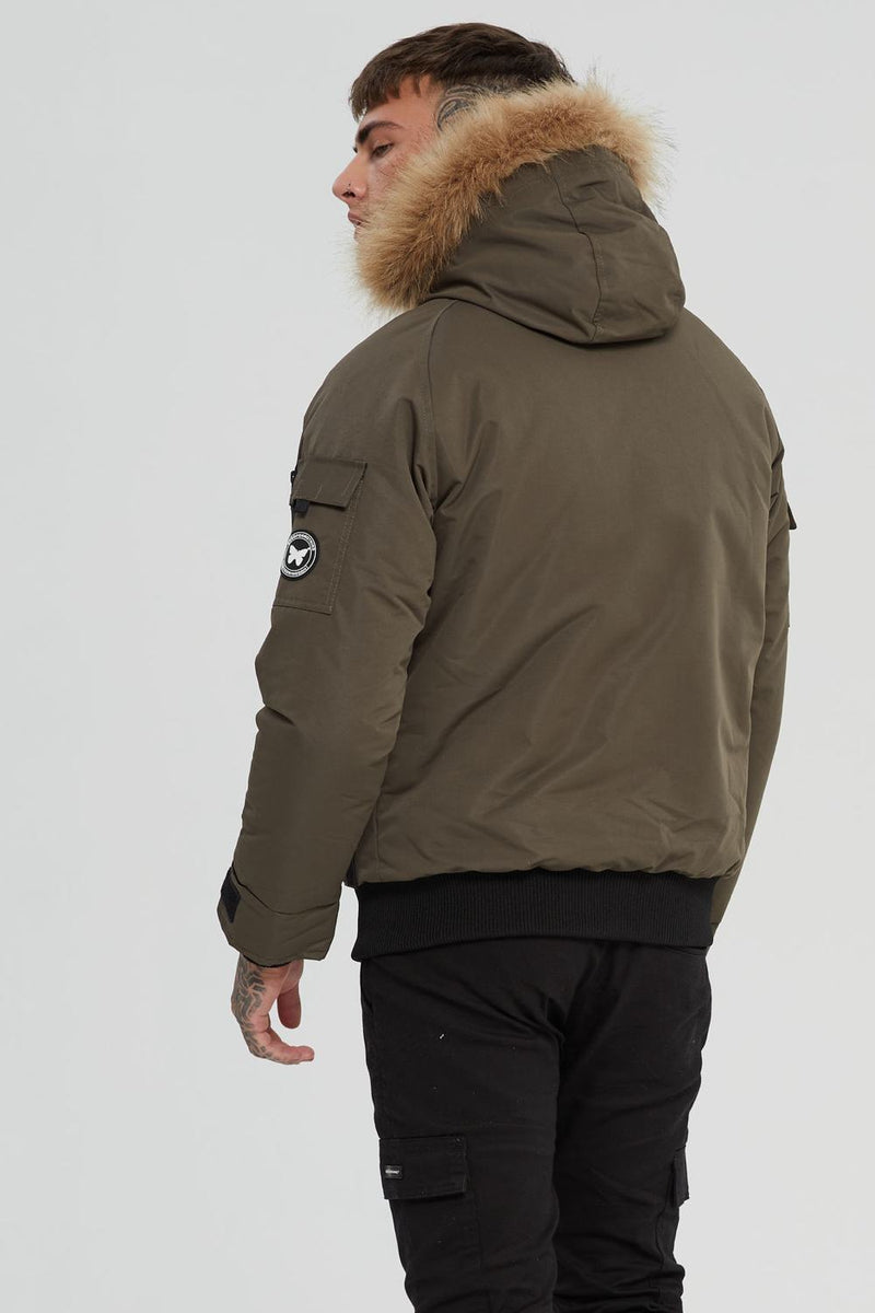 Good For Nothing Artic Bomber Parka - Olive - 3