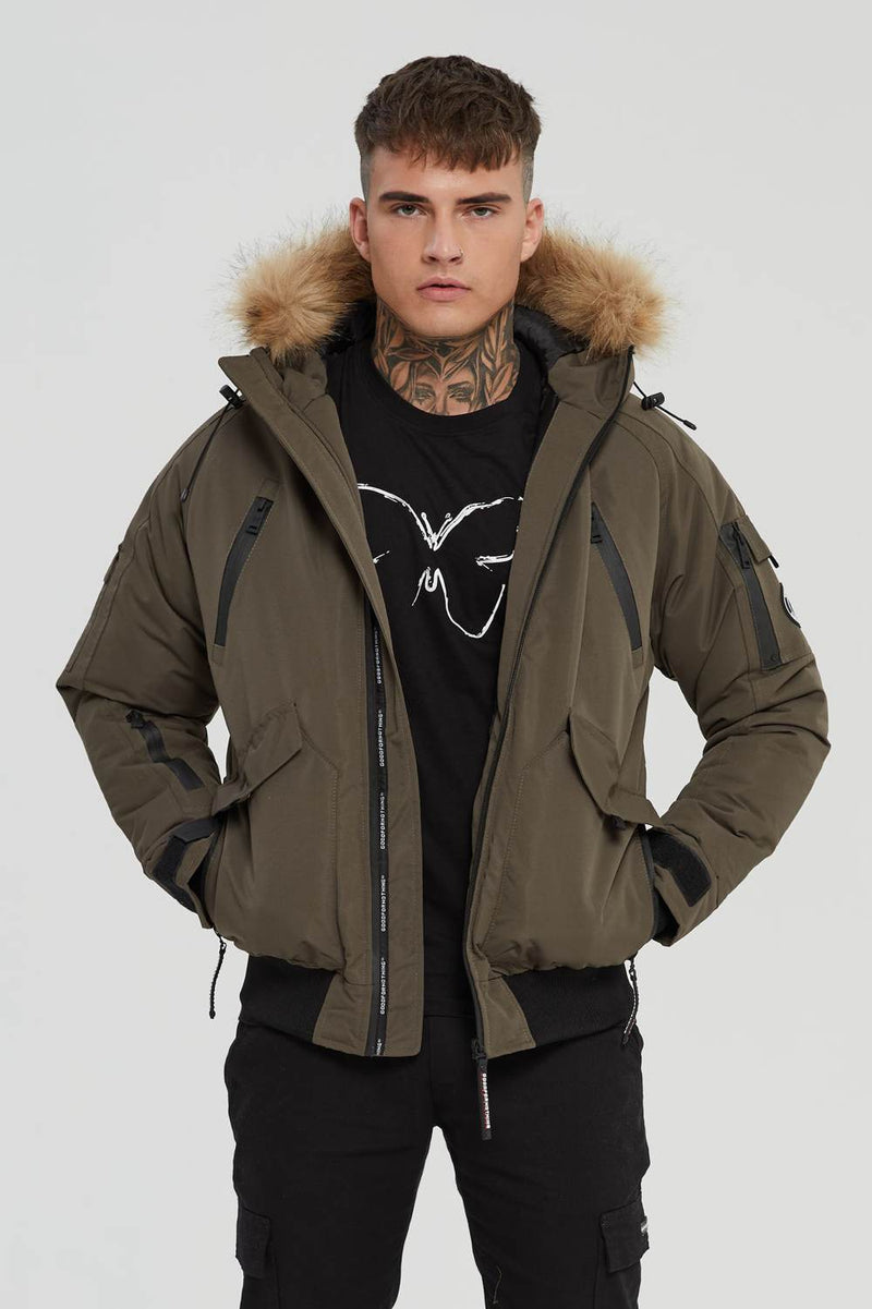Good For Nothing Artic Bomber Parka - Olive