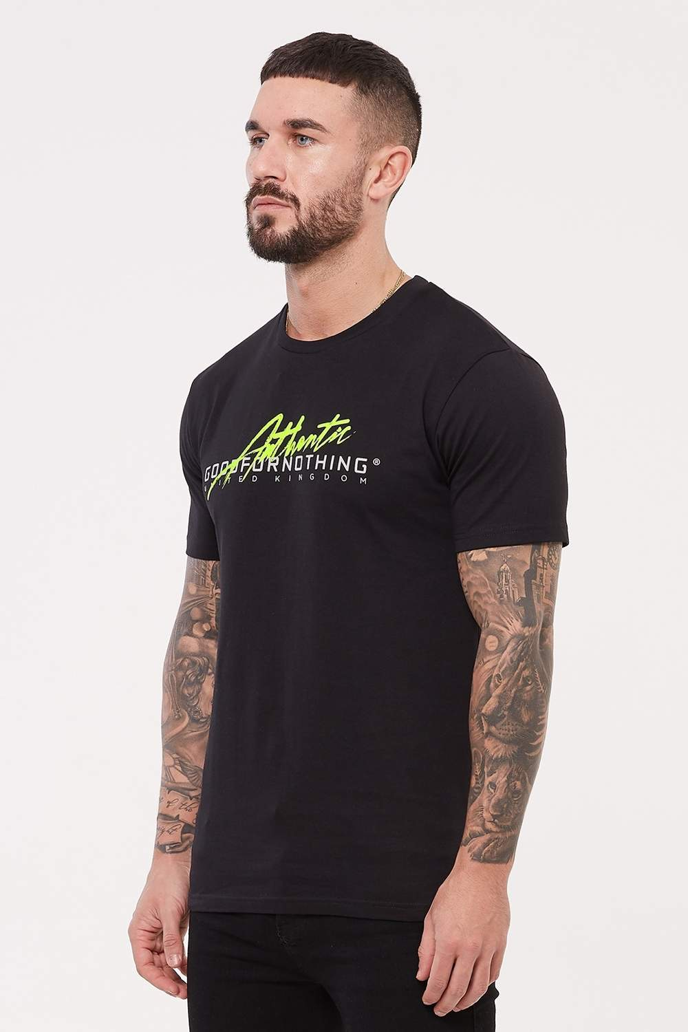 Good For Nothing Authentic Script Flash T-Shirt - Black
