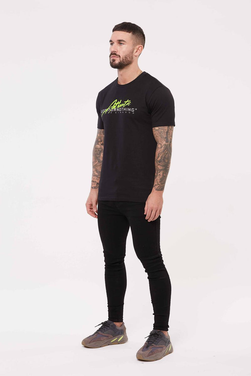Good For Nothing Authentic Script Flash T-Shirt - Black - 1