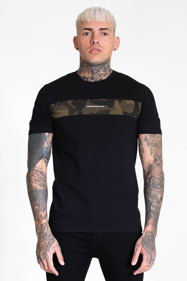 Good For Nothing Camo T-Shirt - Black