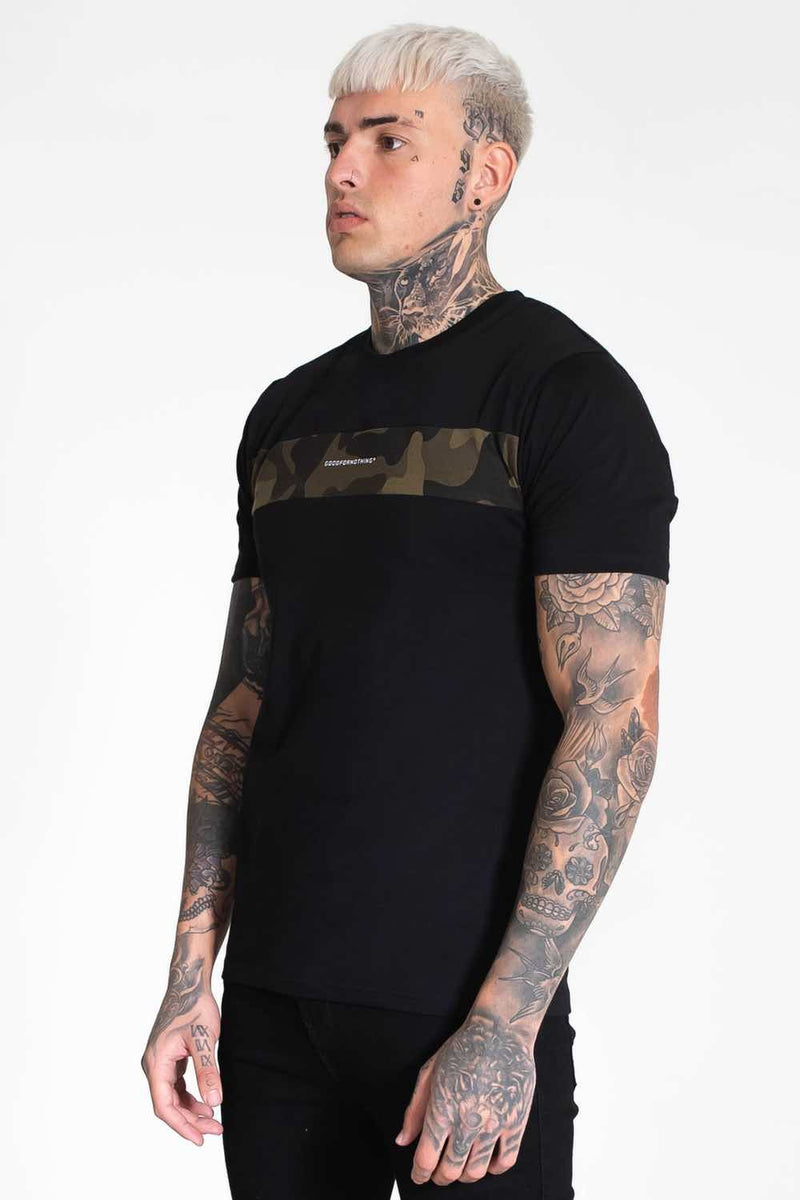 Good For Nothing Camo T-Shirt - Black - 1