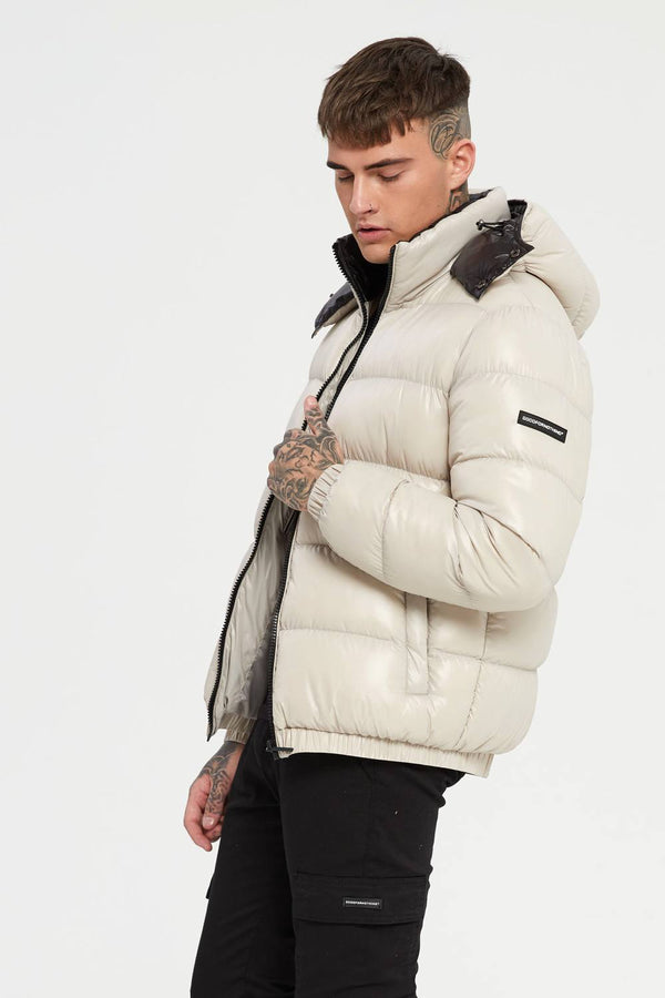 Good For Nothing Cyclone Puffer Jacket - Stone