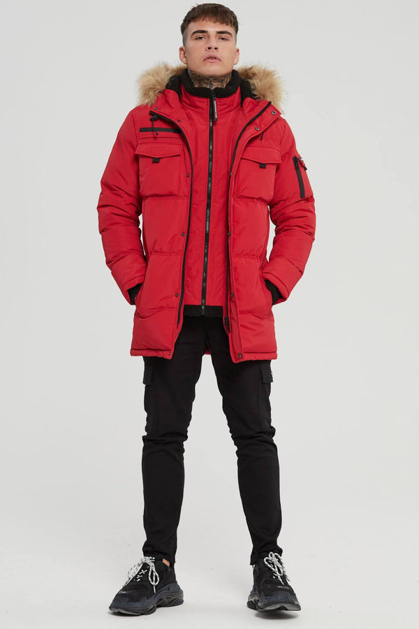 Good For Nothing Storm Double Layered Parka - Red - 1