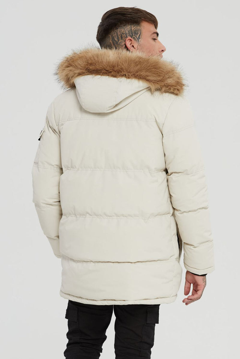 Good For Nothing Double Layered Parka - Stone - 3