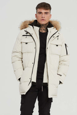 Good For Nothing Double Layered Parka - Stone