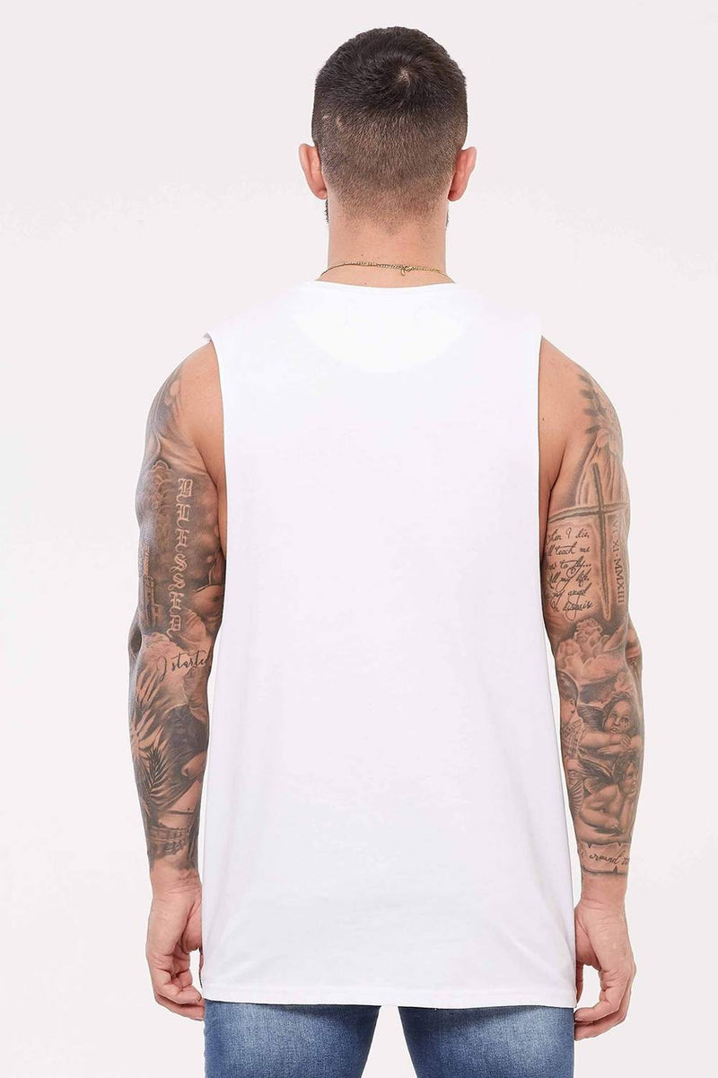 Good For Nothing Edition Cut Away Vest - White - 2