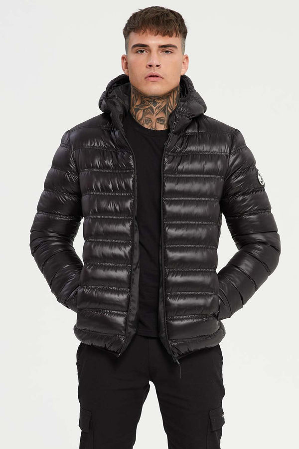 Good For Nothing Element Puffer Jacket - Black Shine